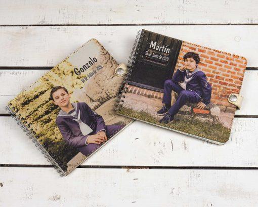 libro de firmas niño personalizado con foto comunion